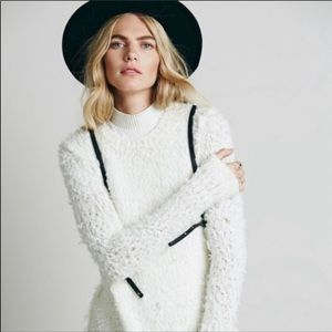 NWT Free People September Song Shaggy Knit Sweater